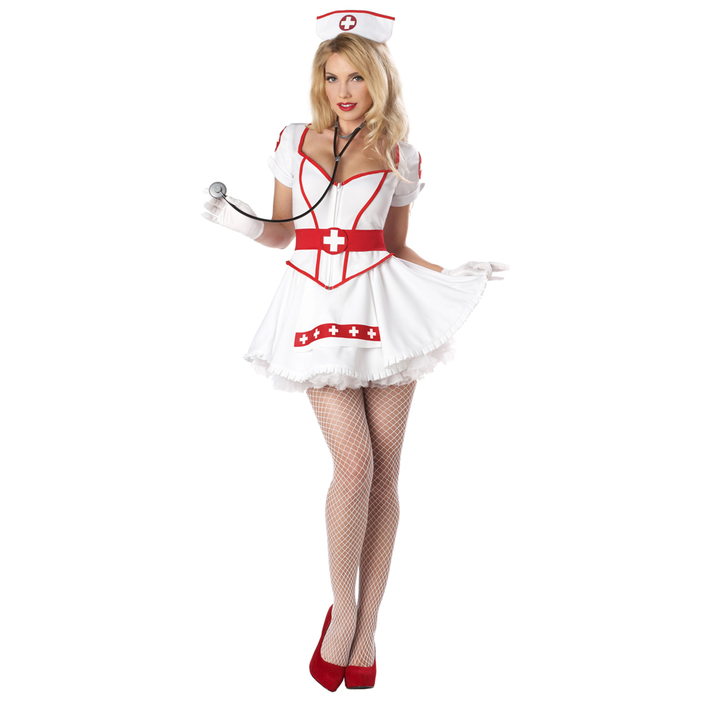 Sexy Nurse Costume - Naughty Nurse Costume - Fancy Dress - Sexy Nurse High Heels