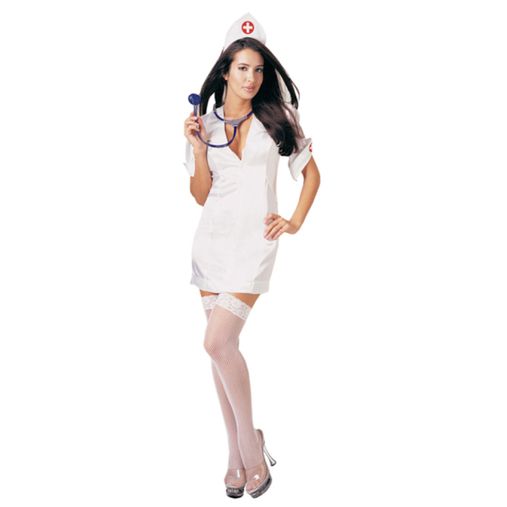 Sexy Nurse Costume - Naughty Nurse Costume - Fancy Dress - Stethoscope High Heels