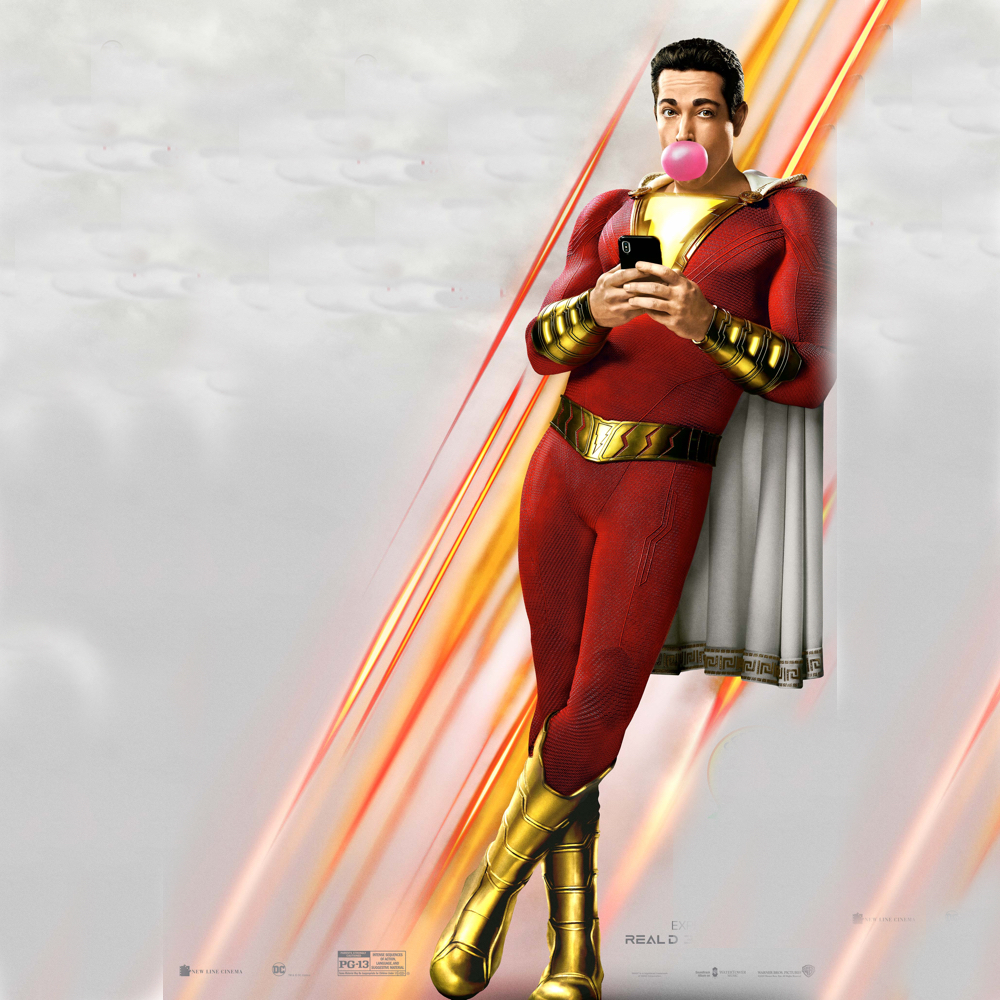 Shazam Costume - Shazam Fancy Dress - Shazam Bubble Gum