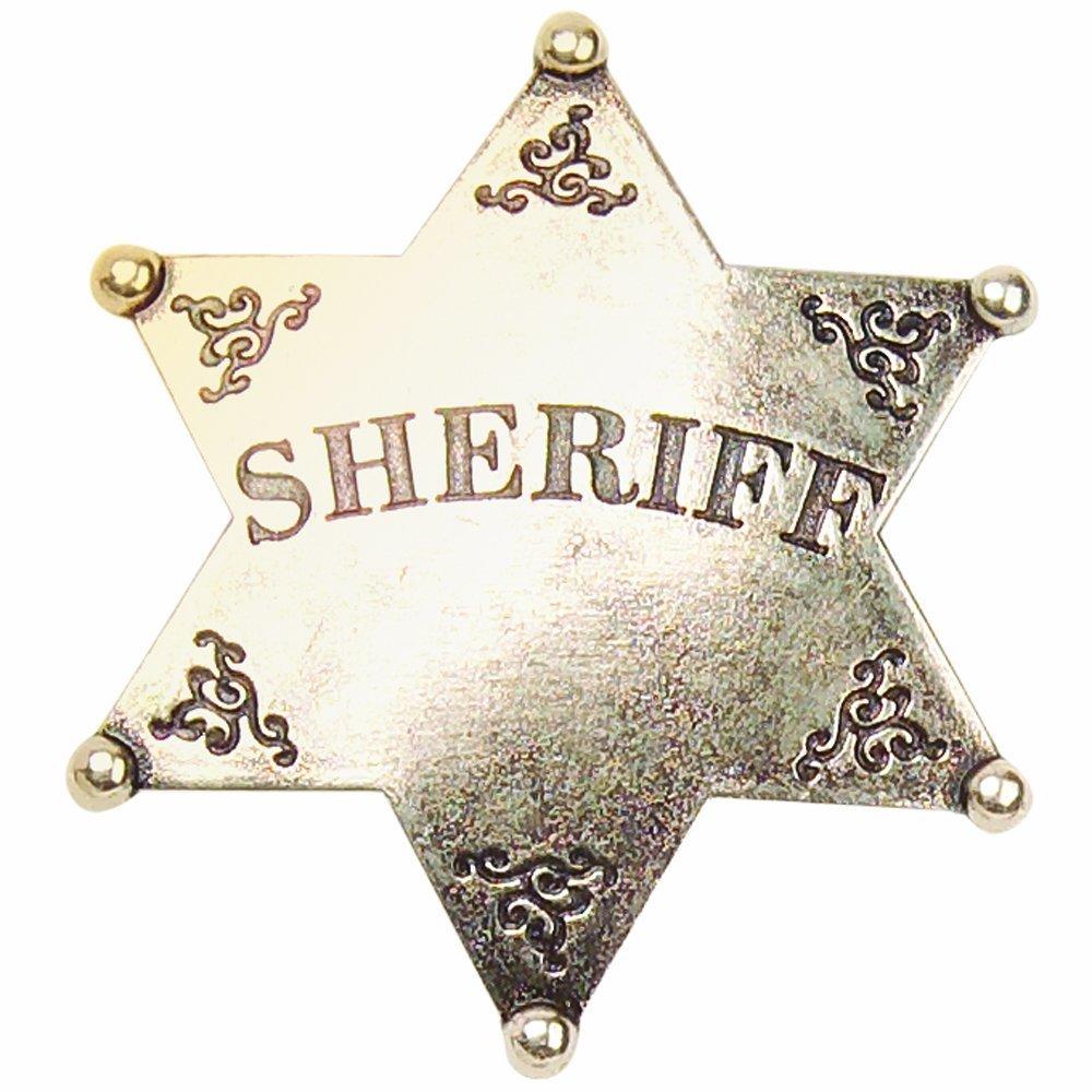 Wyatt Earp Costume - Tombstone Fancy Dress - Wyatt Earp Sheriff Badge