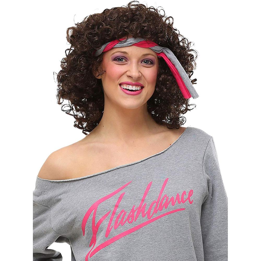 Alex Owens Costume - Flashdance Fancy Dress - Alex Owens Hair Wig