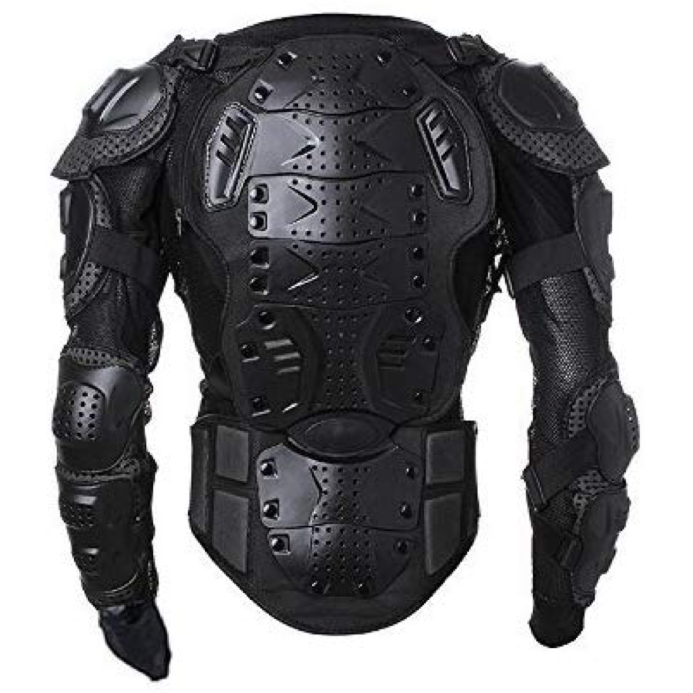 Black Noir Costume - The Boys Fancy Dress - Back Noir Body Armor