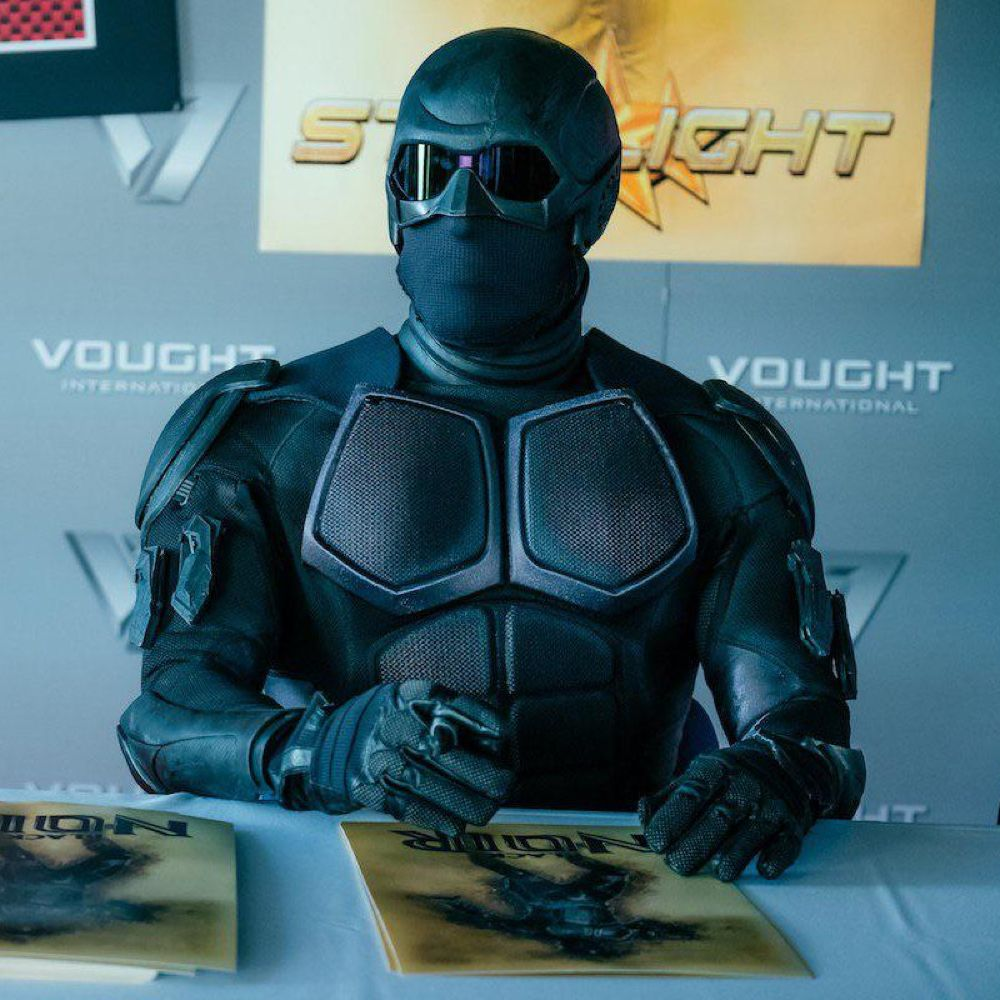 Black Noir Costume - The Boys Fancy Dress - Back Noir Goggles