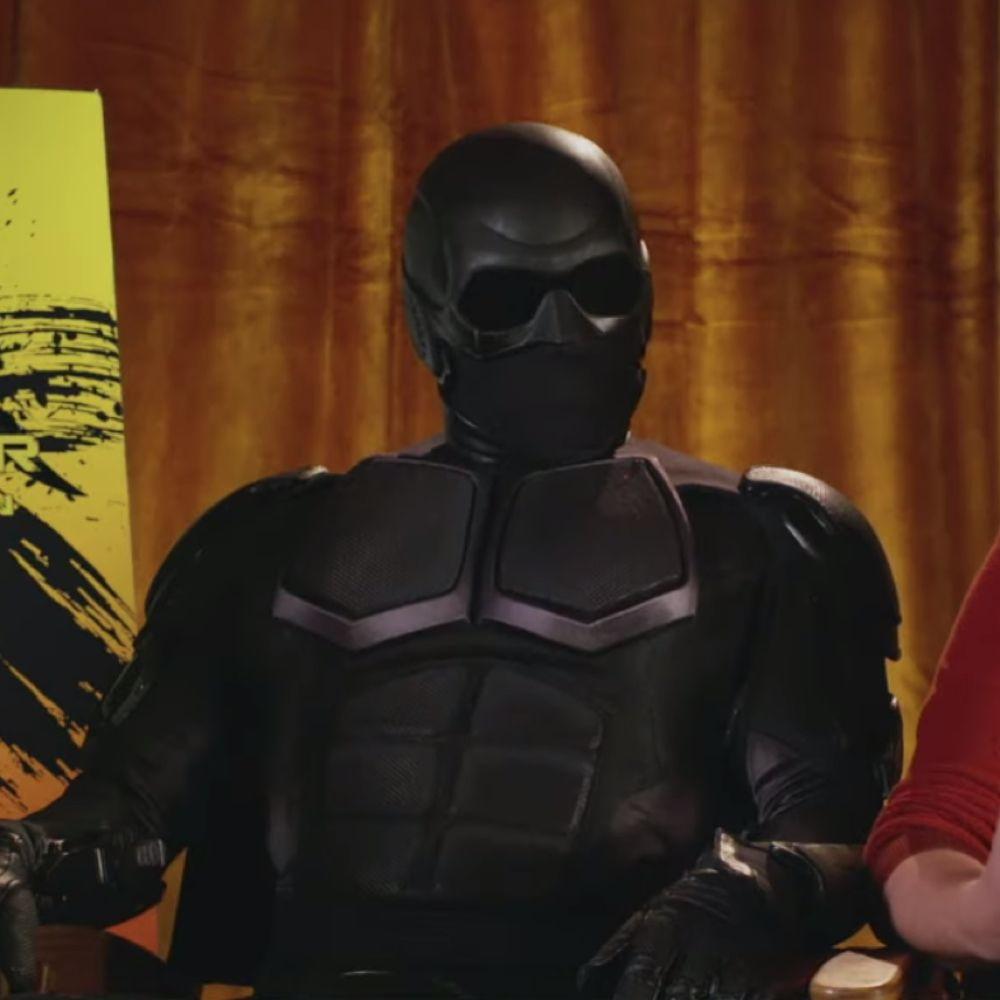 Black Noir Costume - The Boys Fancy Dress - Back Noir Mask