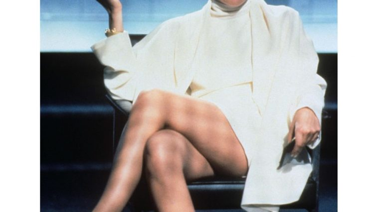 Catherine Tramell Costume - Basic Instinct Fancy Dress - Catherine Tramell Cosplay - Sharon Stone Legs - Sharon Stone High Heels