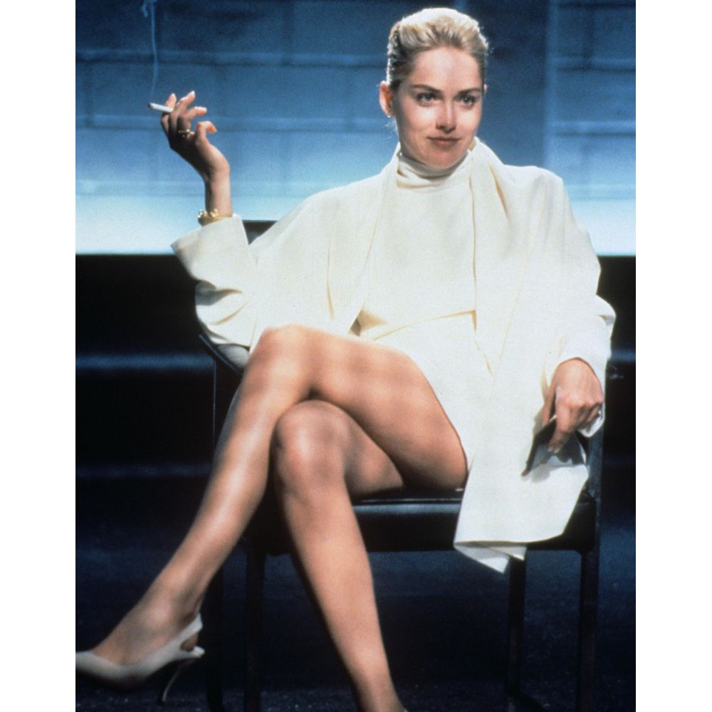 Catherine Tramell Costume - Basic Instinct Fancy Dress - Catherine Tramell High Heels - Sharon Stone Legs - Sharon Stone High Heels