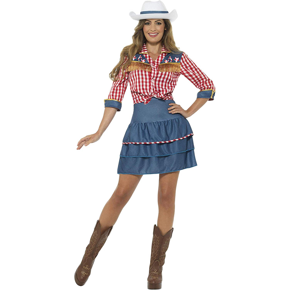 Cowgirl Costume - Cowgirl Fancy Dress - Cowgirl Complete Costume