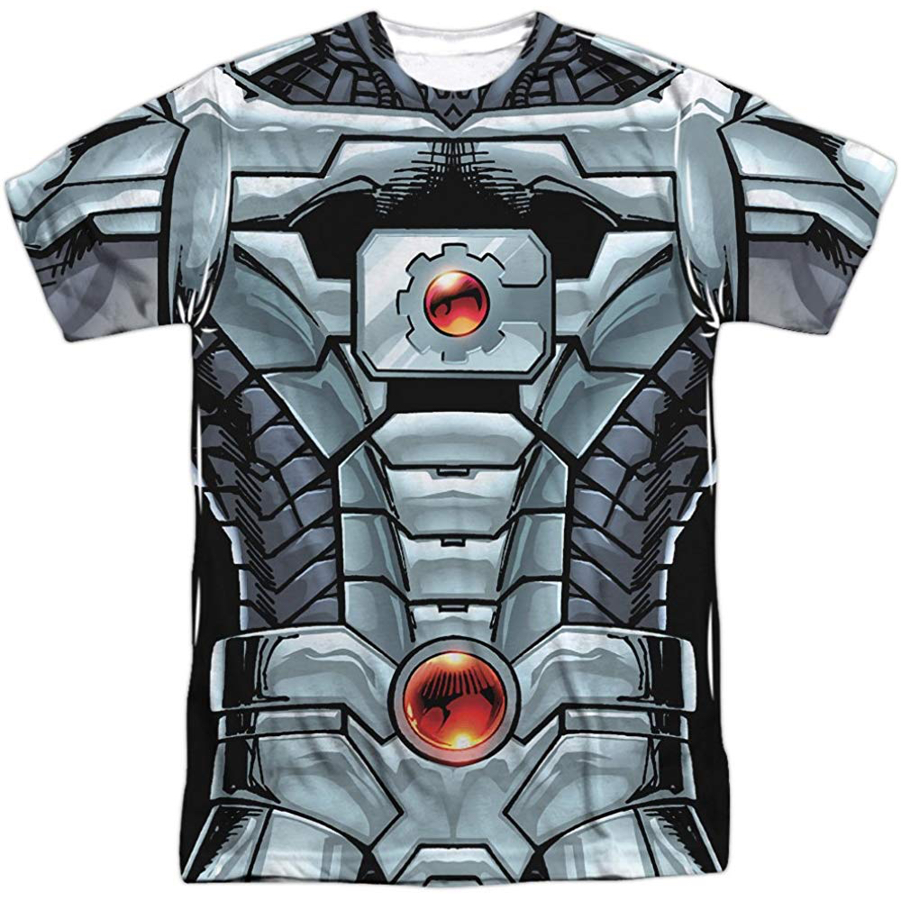Cyborg Costume - Doom Patrol Fancy Dress - Cyborg Chest