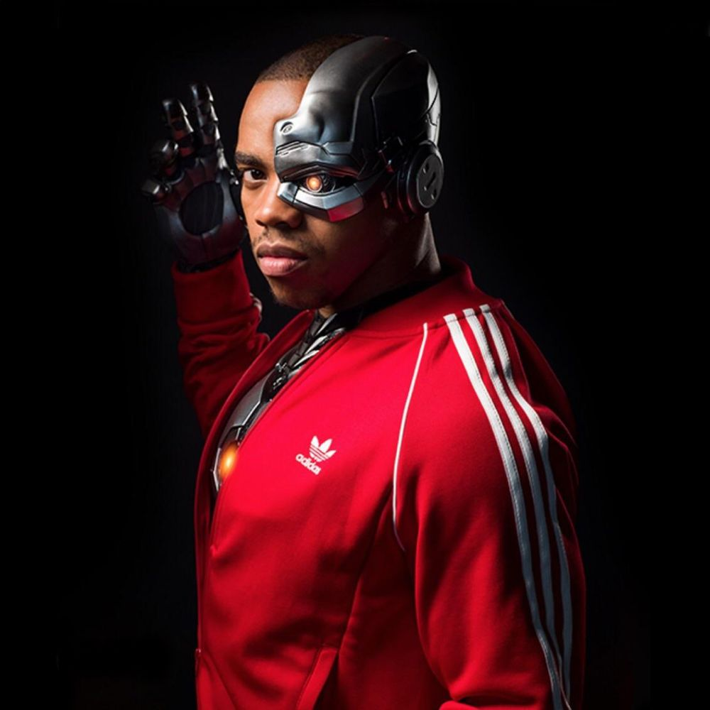 Cyborg Costume - Doom Patrol Fancy Dress - Cyborg Face