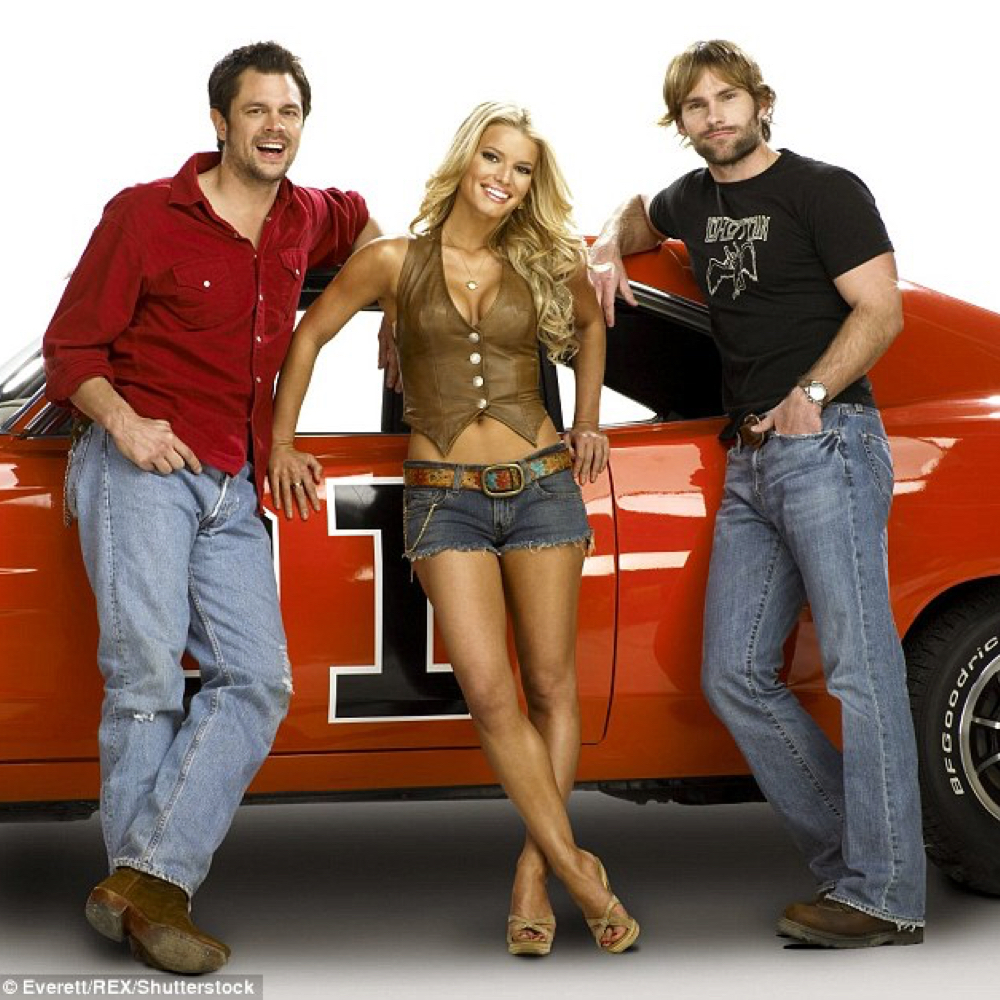 Daisy Duke Costume - The Dukes of Hazzard Fancy Dress - Daisy Duke Vest - Jessica Simpson High Heels - Jessica Simpson Legs - Jessica Simpson Legs