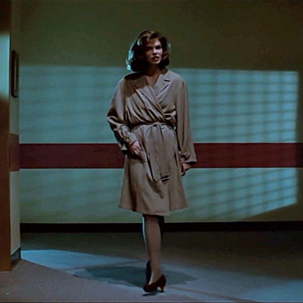 Dr Beth Garner Costume - Basic Instinct Fancy Dress - Dr Beth Garner Coat - Jeanne Tripplehorn Legs - Jeanne Tripplehorn Stockings - Jeanne Tripplehorn High Heels