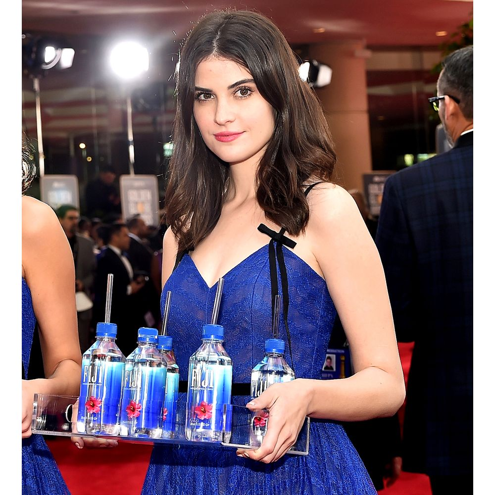 Fiji Water Girl Costume - Fiji Water Girl Fancy Dress - Fiji Water Girl Tray