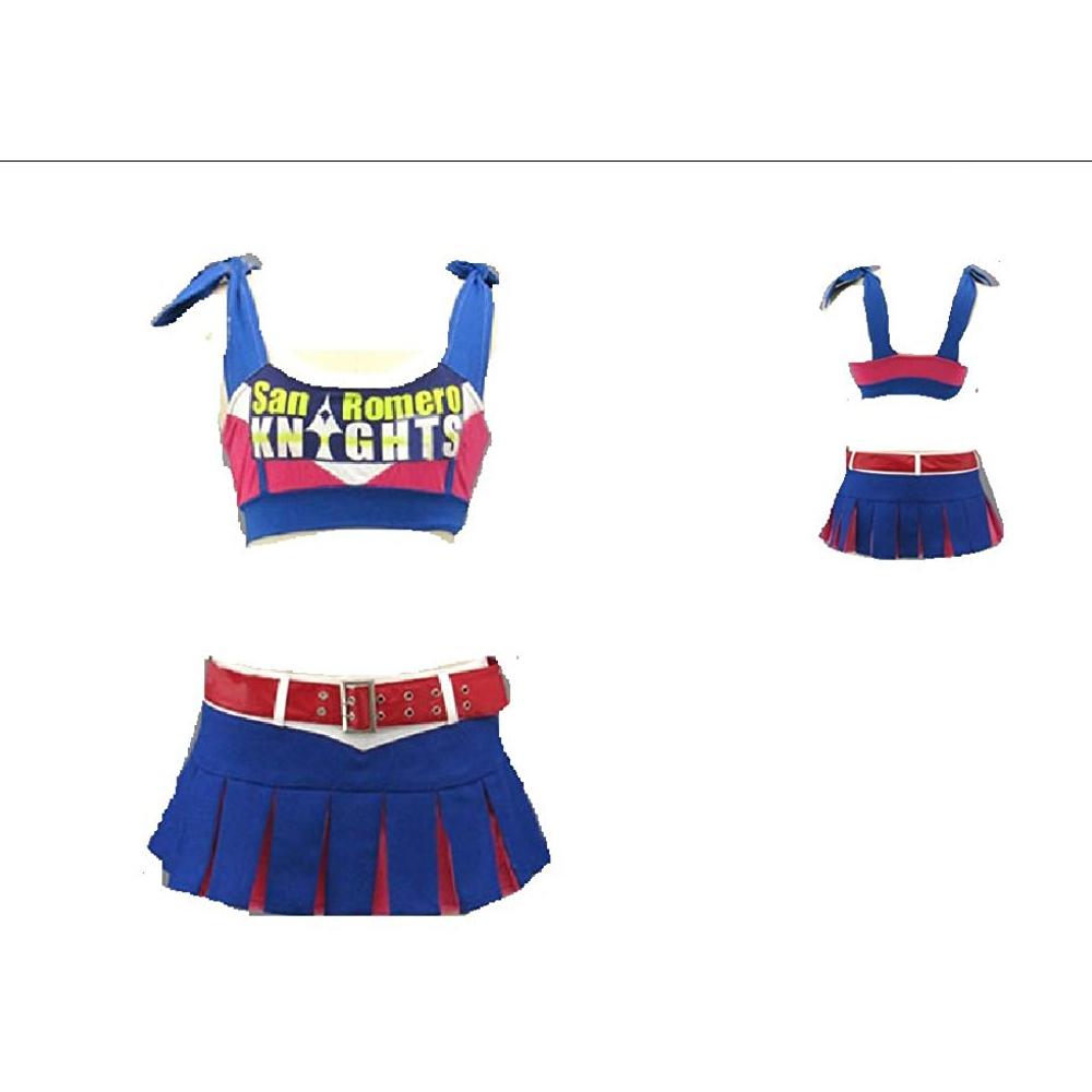 Juliet Starling Costume - Lollipop Chainsaw Fancy Dress - Juliet Starling Cheerleader Outfit