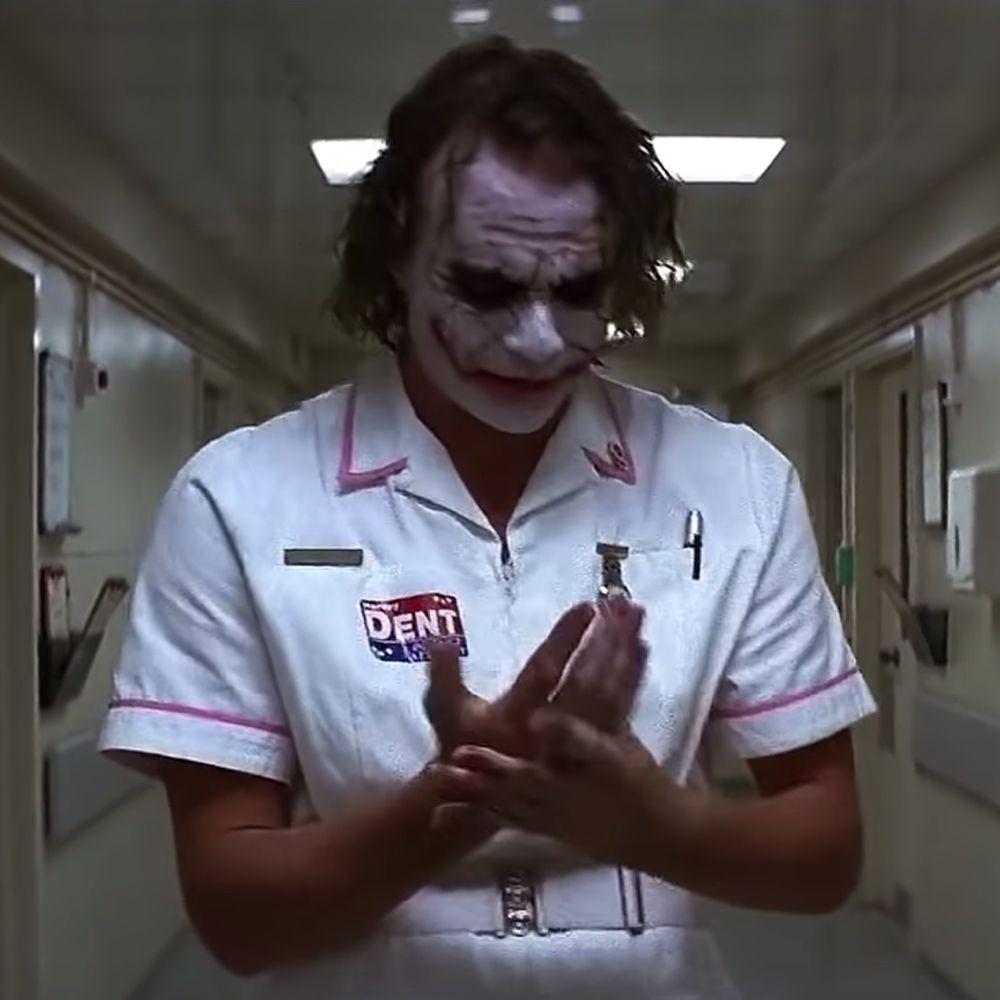Nurse Joker Costume - Batman Fancy Dress - Nurse Joker Dent Badge