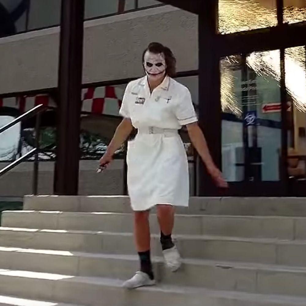 Nurse Joker Costume - Batman Fancy Dress - Nurse Joker Shoes