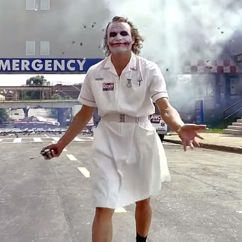 Nurse Joker Costume - Batman Fancy Dress - Nurse Joker Socks