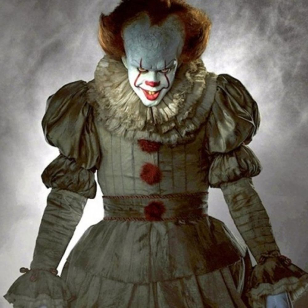 Pennywise Costume - IT Fancy Dress - Pennywise Satin Ribbon