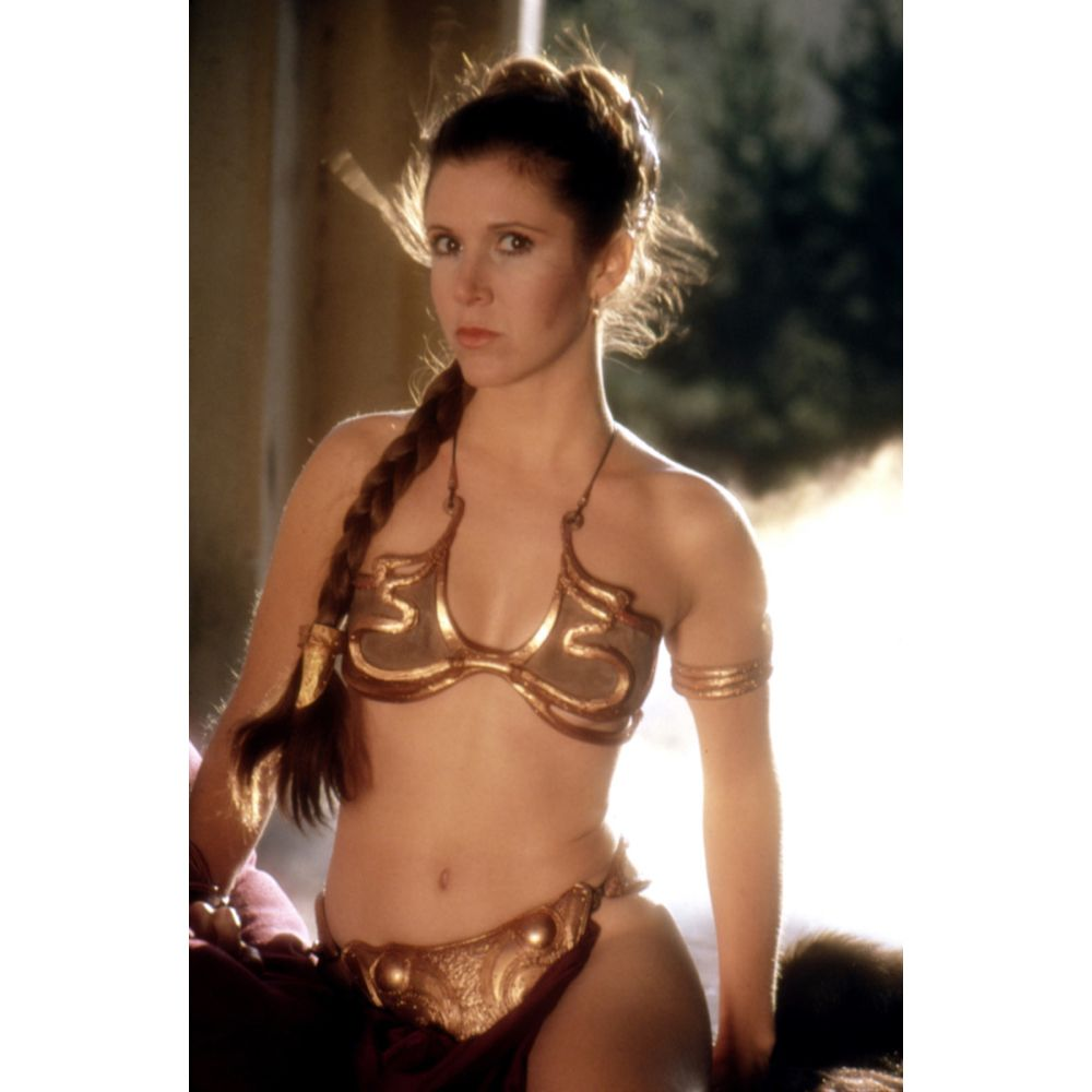Princess Leia Slave Costume - Star Wars Return of the Jedi Fancy Dress - Princess Leia Slave Hair - Wig