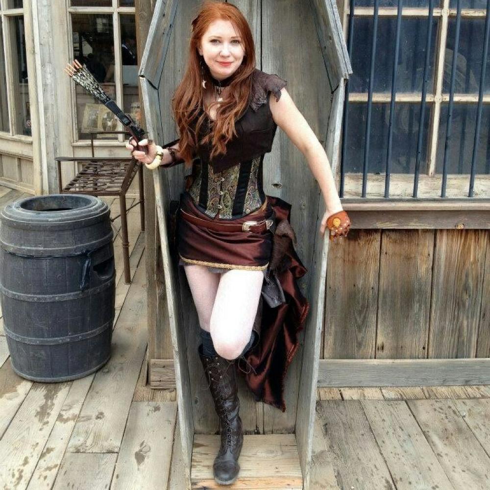 Saloon Girl Costume - Saloon Girl Fancy Dress - Saloon Girl Boots