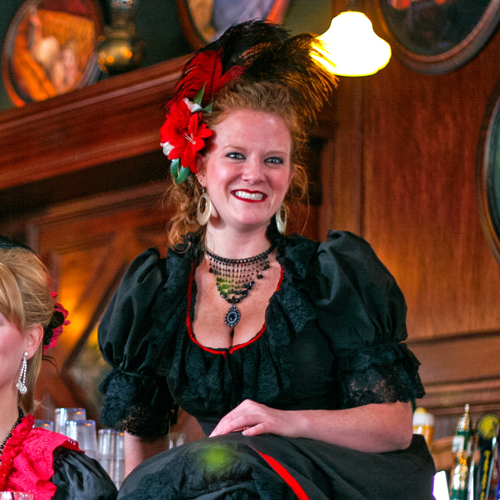 Saloon Girl Costume - Saloon Girl Fancy Dress - Saloon Girl Choker