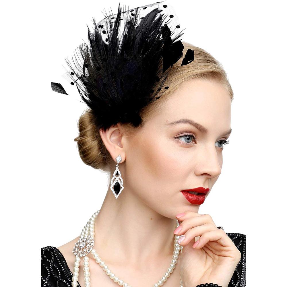 Saloon Girl Costume - Saloon Girl Fancy Dress - Saloon Girl Feather Hair Clip