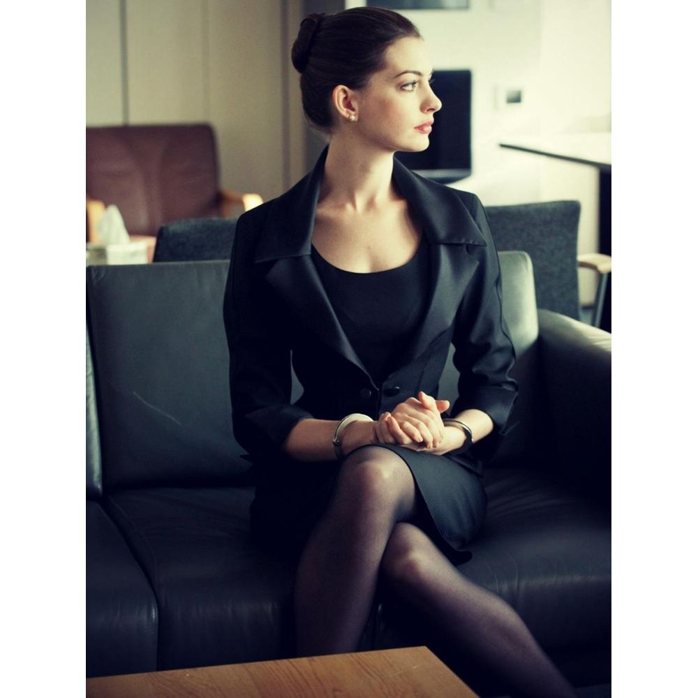 Selina Kyle Costume - Batman: The Dark Knight Rises Fancy Dress - Selina Kyle Pantyhose - Anne Hathaway Legs - Anne Hathaway Pantyhose