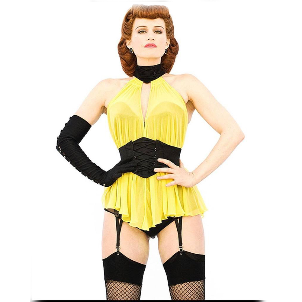 Silk Spectre Costume - Watchmen Fancy Dress - Silk Spectre Corset
