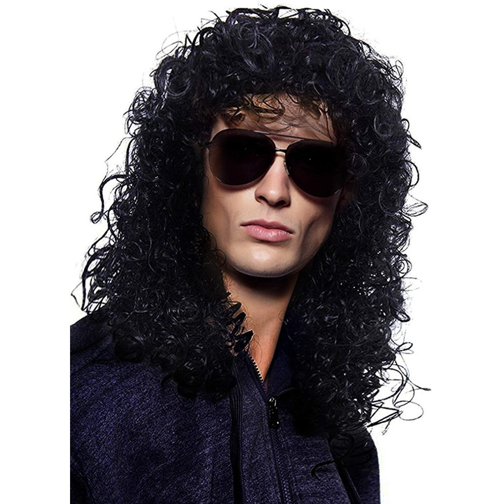 Slash Costume - Guns N' Roses Fancy Dress - Slash Hair Wig