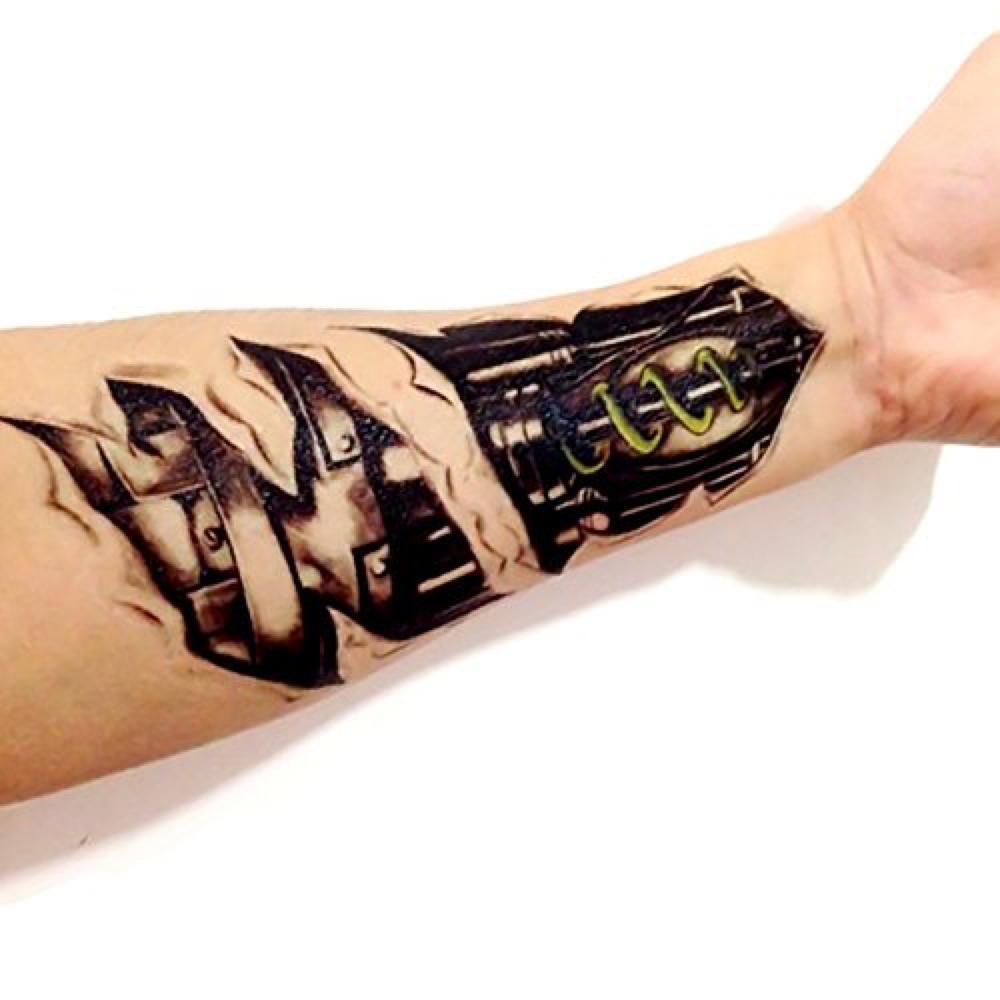 Terminator Costume - T-800 Costume - The Terminator Fancy Dress - Terminator Damaged Arm