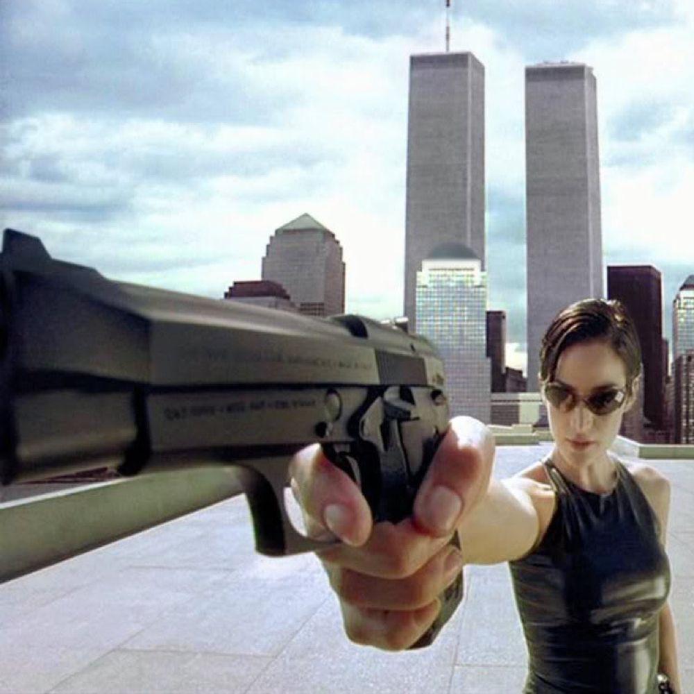Trinity Costume - The Matrix Fancy Dress - Trinity Gun