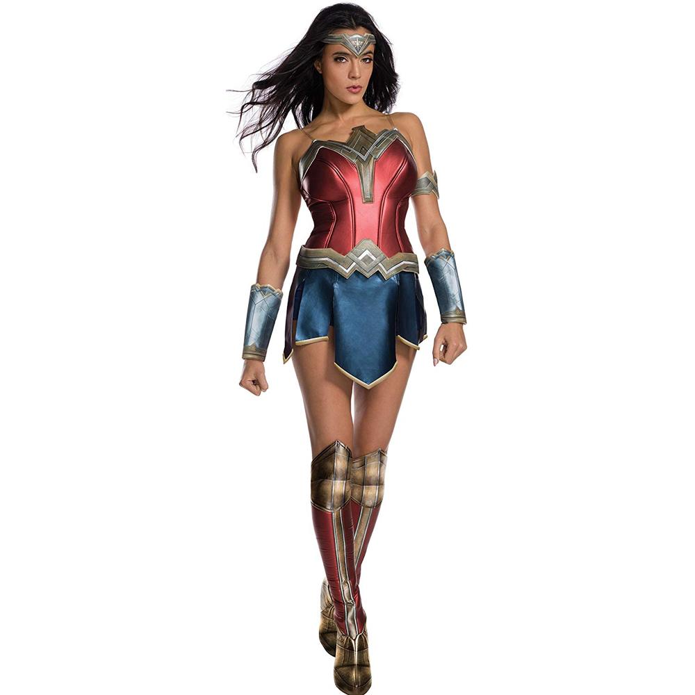 Wonder Woman Costume - Wonder Woman Fancy Dress - Wonder Woman Complete Corset and Skirt