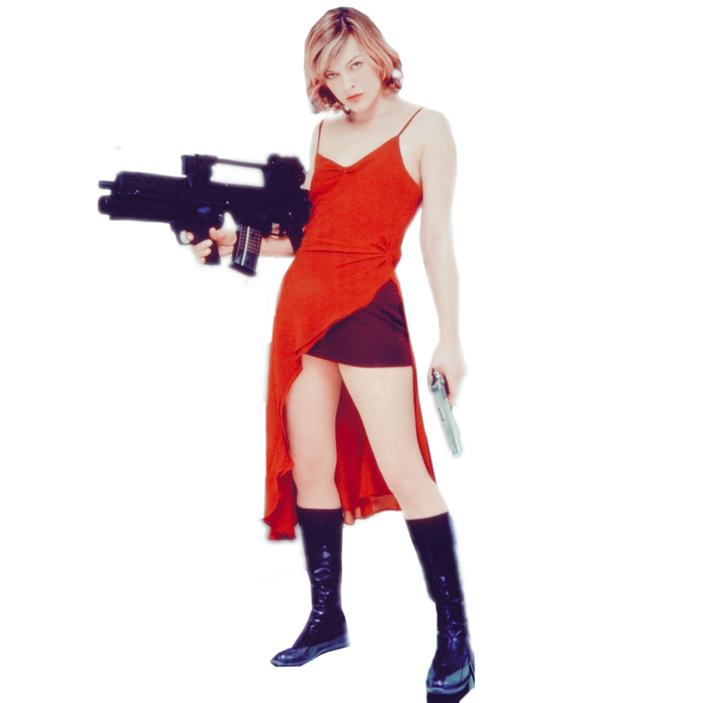 Alice Costume - Resident Evil Fancy Dress - Alice Boots