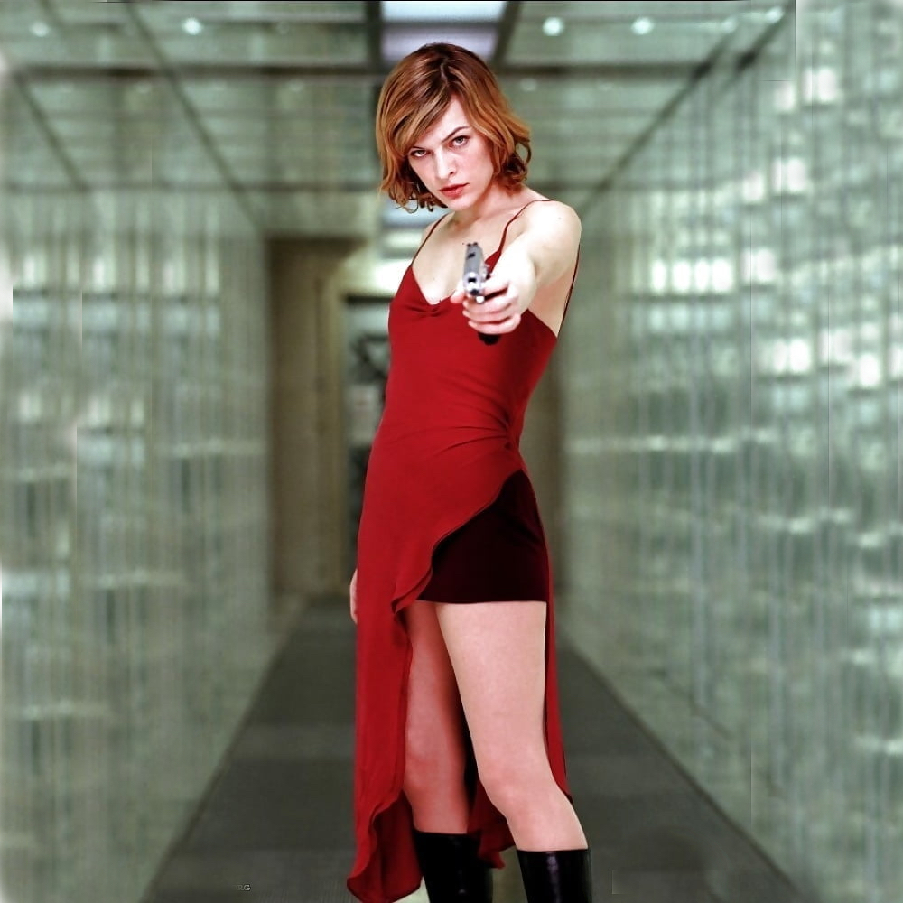 Alice Costume - Resident Evil Fancy Dress - Alice Gun