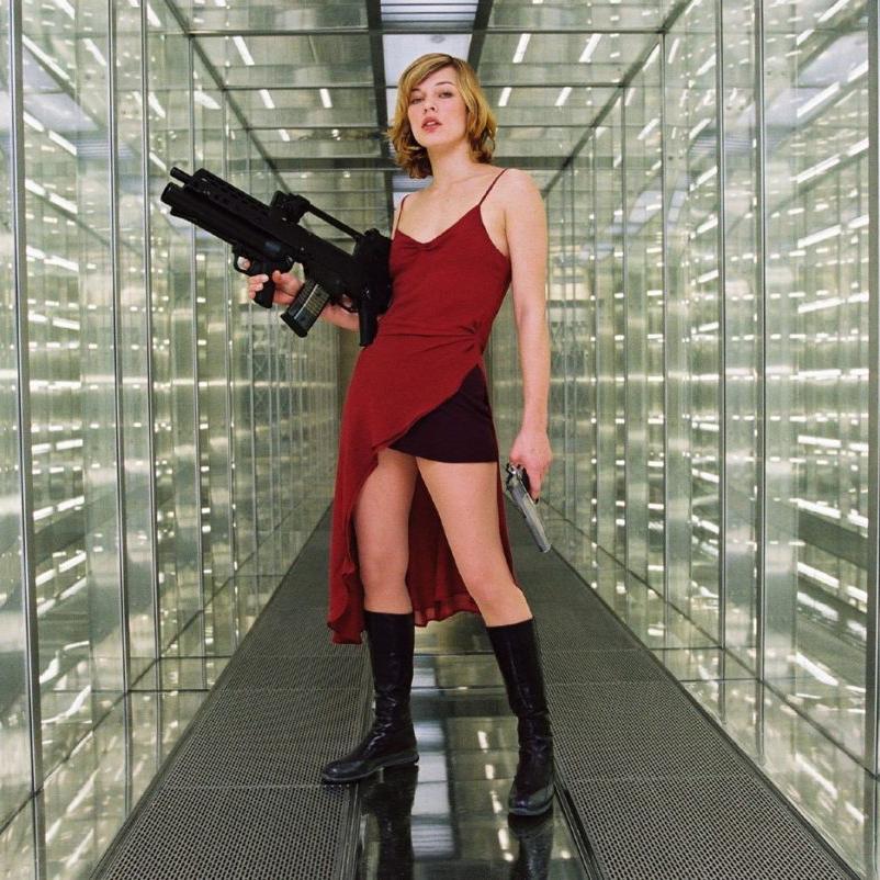 Alice Costume - Resident Evil Fancy Dress - Alice Hair Wig