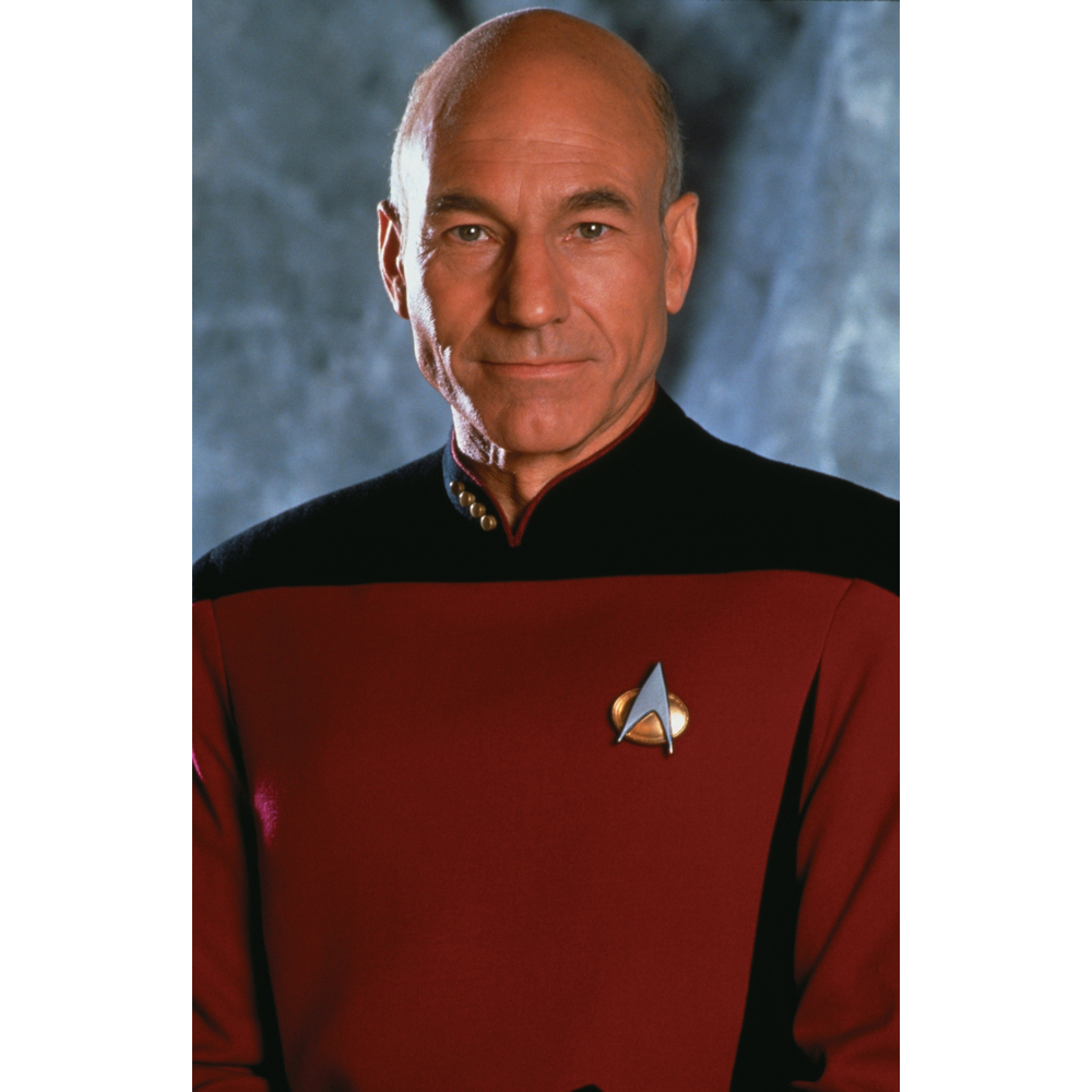 Captain Jean-Luc Picard Costume - Start Trek Fancy Dress - Captain Jean-Luc Picard Communicator Badge
