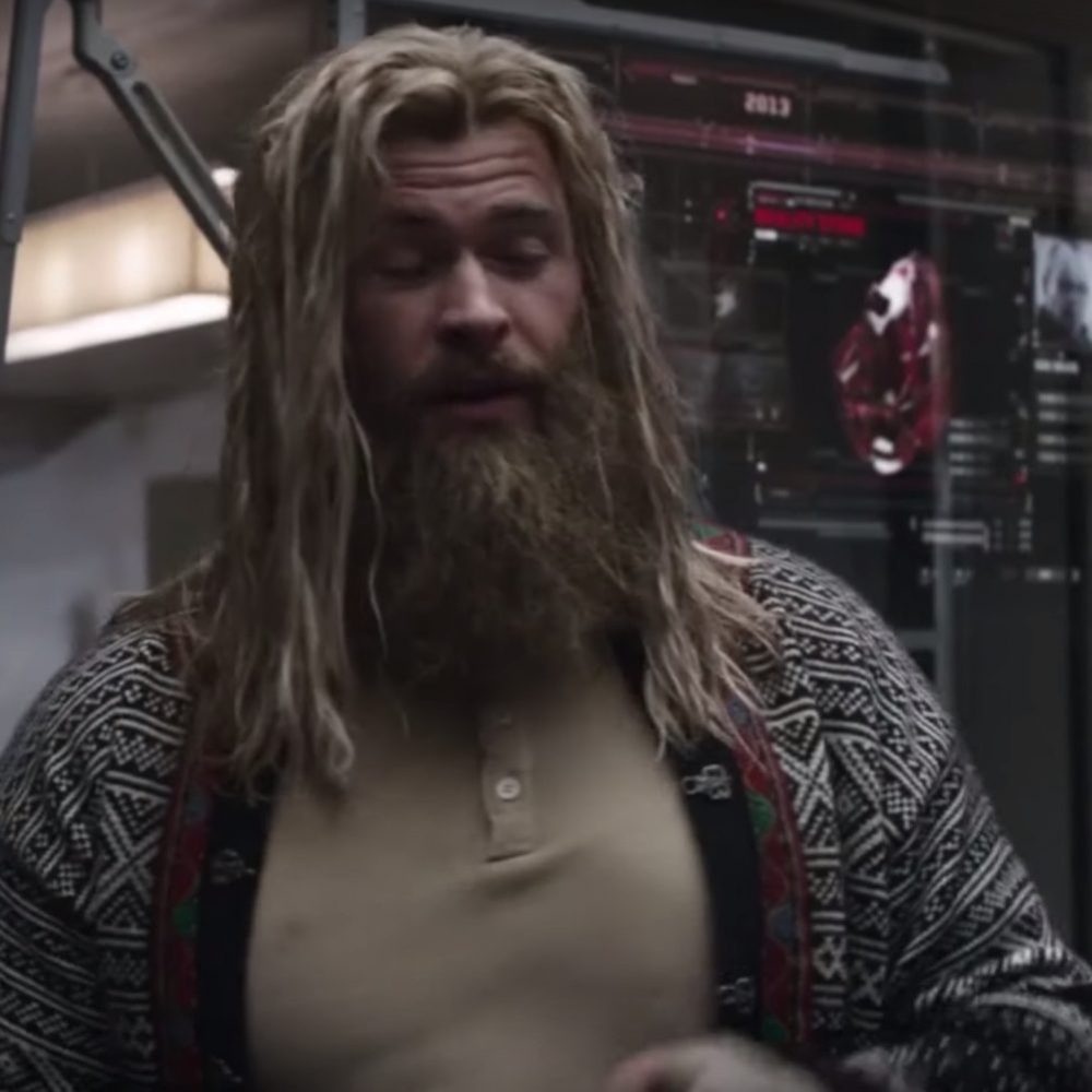 Fat Thor Costume - Avengers: Endgame Fancy Dress - Fat Thor Cardigan