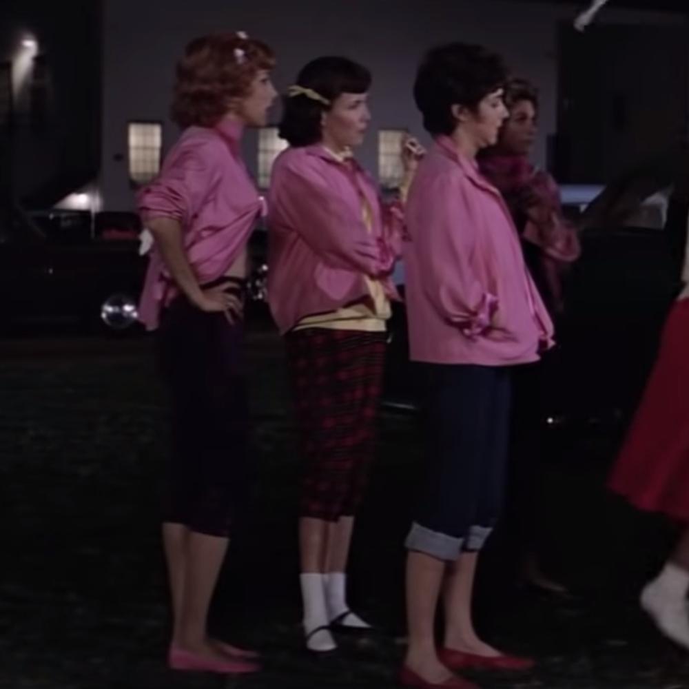 Pink Ladies Costume - Grease Fancy Dress - Pink Ladies Pants