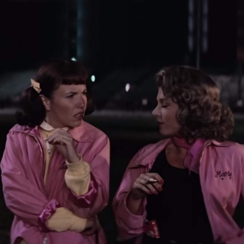 Pink Ladies Costume - Grease Fancy Dress - Pink Ladies Tank Top