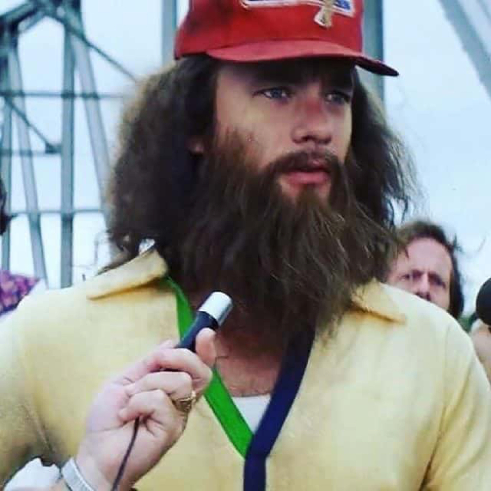 Running Forrest Gump Costume - Forrest Gump Fancy Dress - Running Forrest Gump Beard