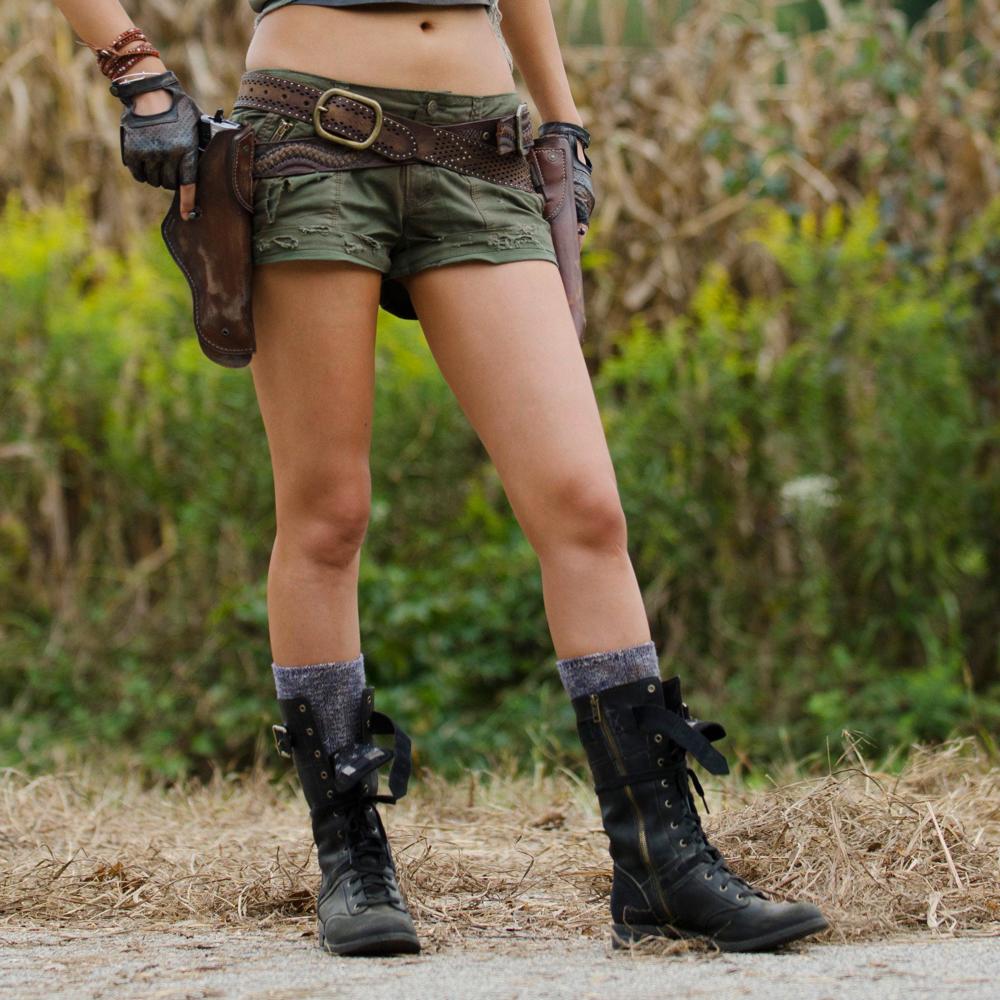 Rosita Espinosa Costume - Rosita Espinosa Boots - The Walking Dead
