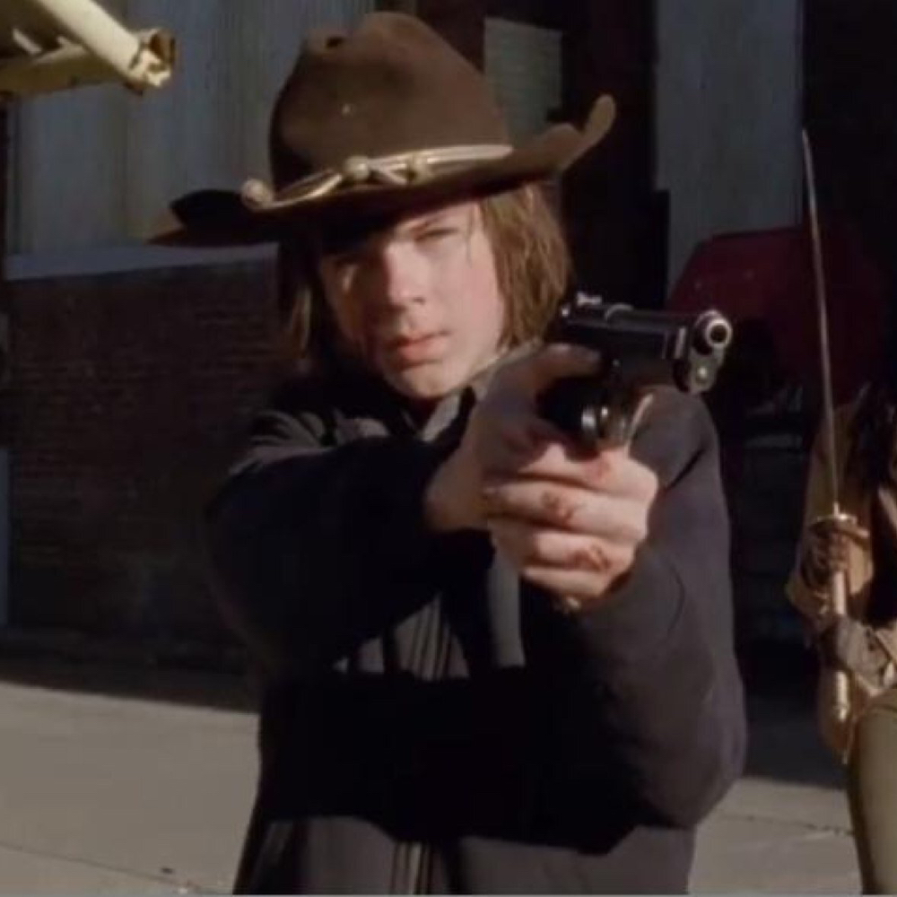 Carl Grimes Costume - The Walking Dead - Carl Grimes Gun
