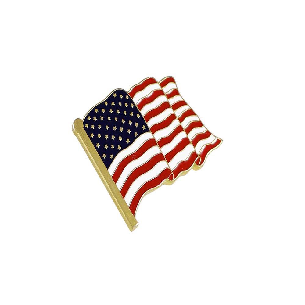 Donald Trump Costume - Donald Trump USA Flag Pin