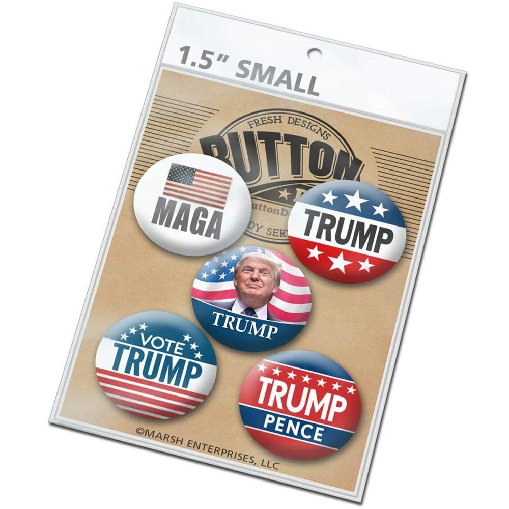 Donald Trump Costume - Donald Trump Button