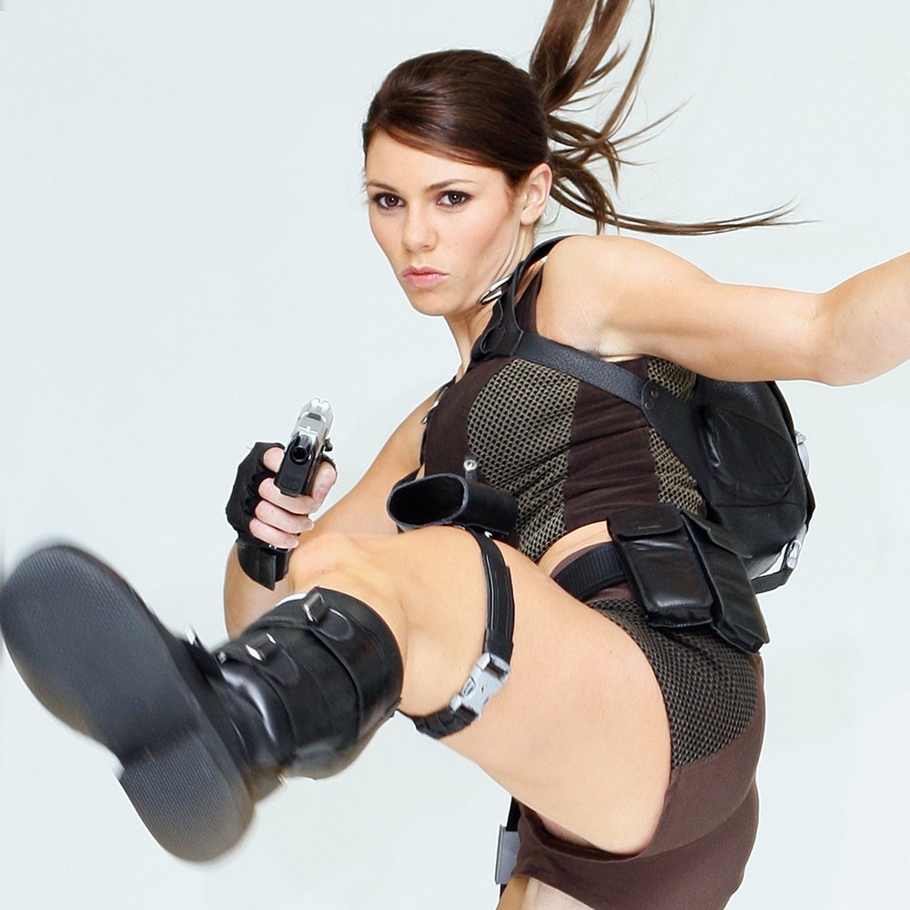 Lara Croft Cosplay Costume - Lara Croft Boots - Tomb Raider Outfits