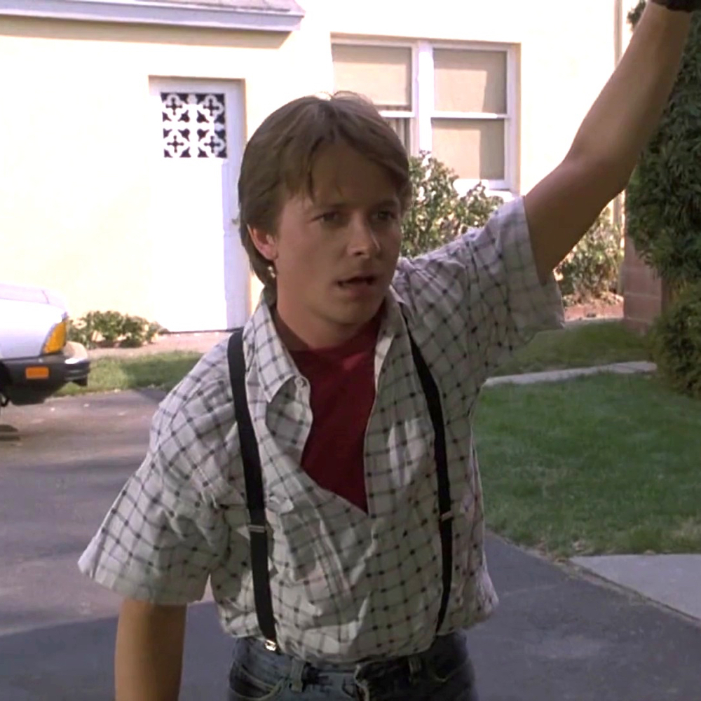 Marty McFly Costume - Marty McFly Suspenders
