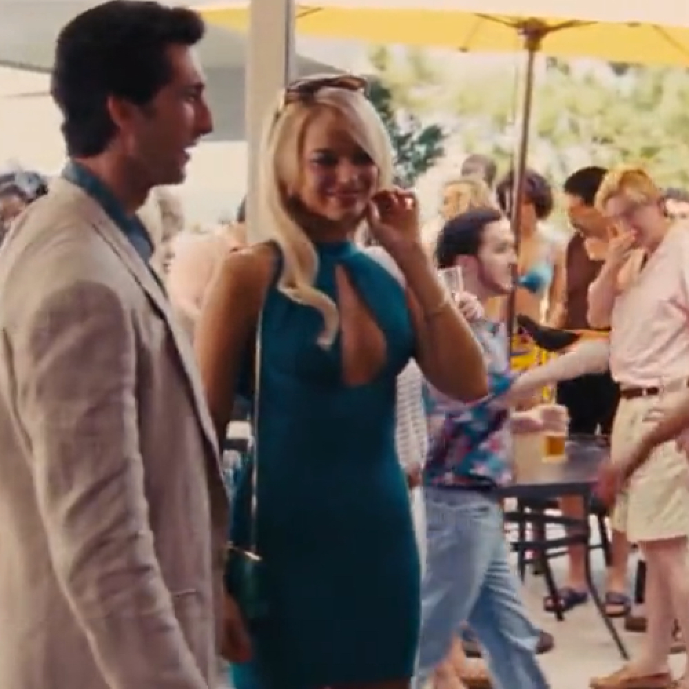 Naomi Belfort Costume - Margot Robbie - Naomi Belfort Blue Dress