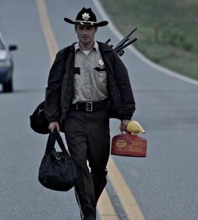 Rick Grimes costume - walking dead sheriff bag