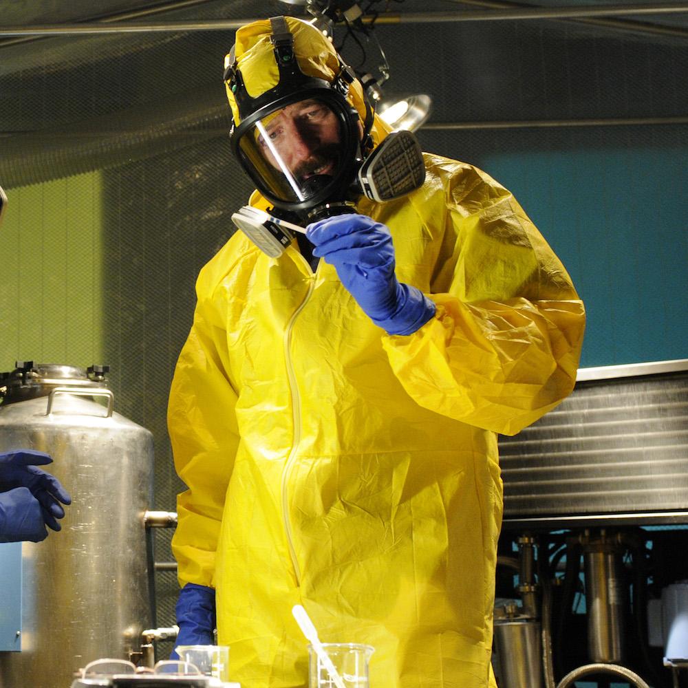 dress like Walter White costume - Heisenberg rubber gloves